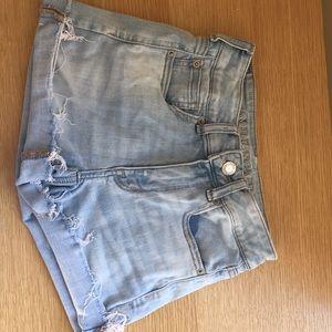 American Eagle Light Wash Denim Shorts